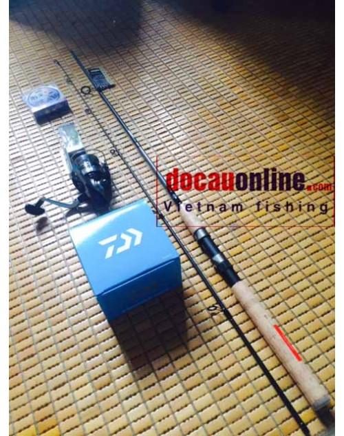 Bộ cần câu cá, bộ cần câu mồi giả, lure Daiwa 2.1m hạng M