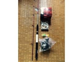 Bộ cần câu cá mồi giả, lure shimano 1.8m AX7562