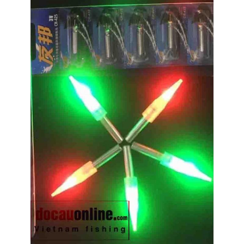 Đèn led câu đêm Pin dài, xanh, đỏ cao cấp